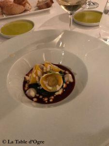 Assaje Aldrovandi Ravioles de queue de boeuf avec fromage Castelmagno
