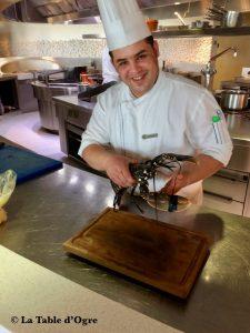 Bleu Four Seasons Le chef avec mon homard