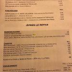 Casse-Noix Carte Vins et Digestifs