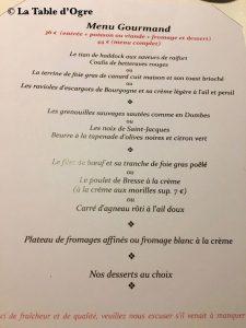 Hôtel Restaurant du Commerce Carte