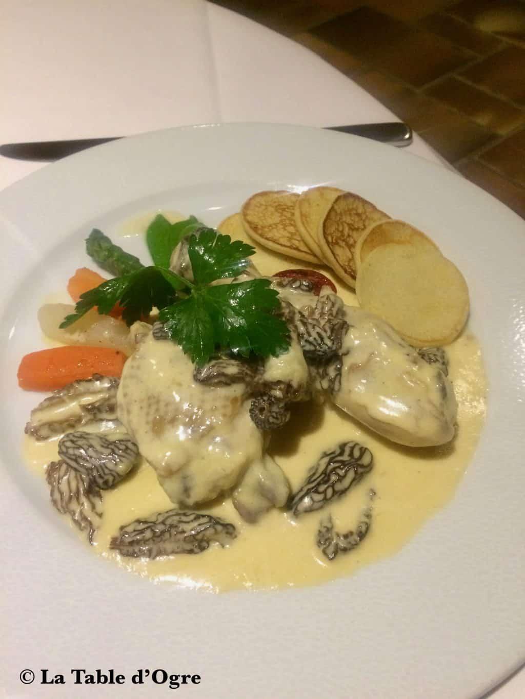 Hôtel Restaurant du Commerce Poulet aux morilles