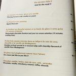 L'Archipel des Saveurs Carte desserts