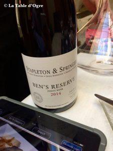 Tri Stoleti Pinot noir Stapleton & Springer Ben's Reserve