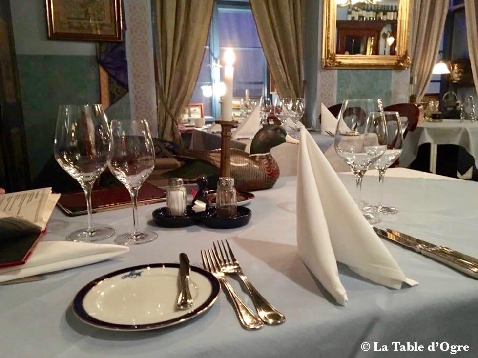U Modre Kachnicky table