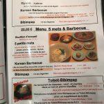 Korean Barbecue Delambre Menu Gyoza