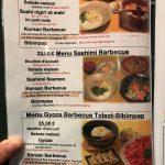 Korean Barbecue Delambre Menu Sushi