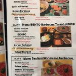 Korean Barbecue Delambre Menus divers