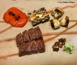 Teppanyaki Ginza Onodera Assiette boeuf de Kobé