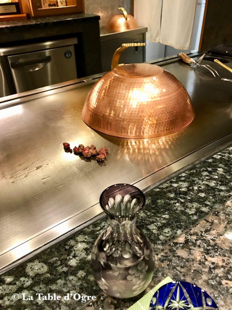 Teppanyaki ginza onodera cuisson la table d 39 ogre - Table de cuisson japonaise teppanyaki ...