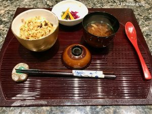 Teppanyaki Ginza Onodera Riz, soupe et légumes