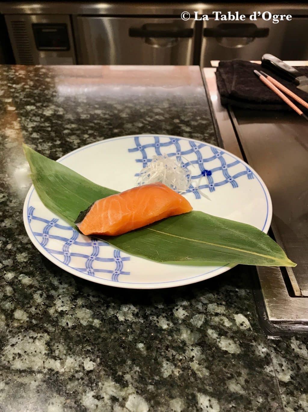Teppanyaki Ginza Onodera Saumon avant cuisson