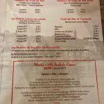 Pavillon Augustine Ecailler et menu