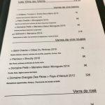 L'Essentiel Carte vins au verre