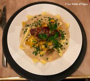 Les Étiquettes Ravioles truffe et foie gras