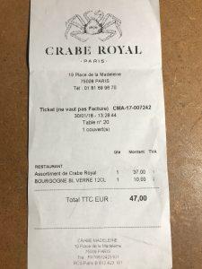 Crabe Royal Addition