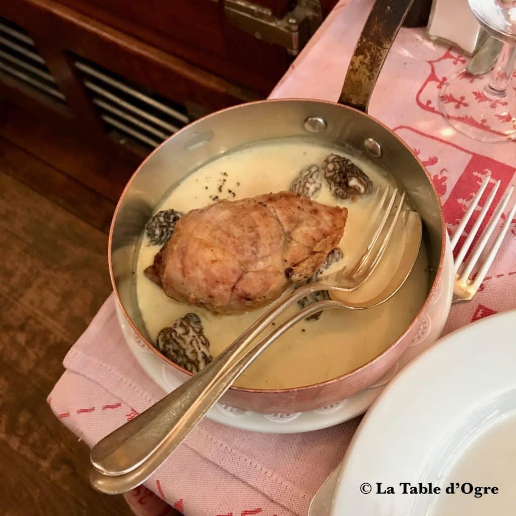 Auberge bressane Ris de veau morilles