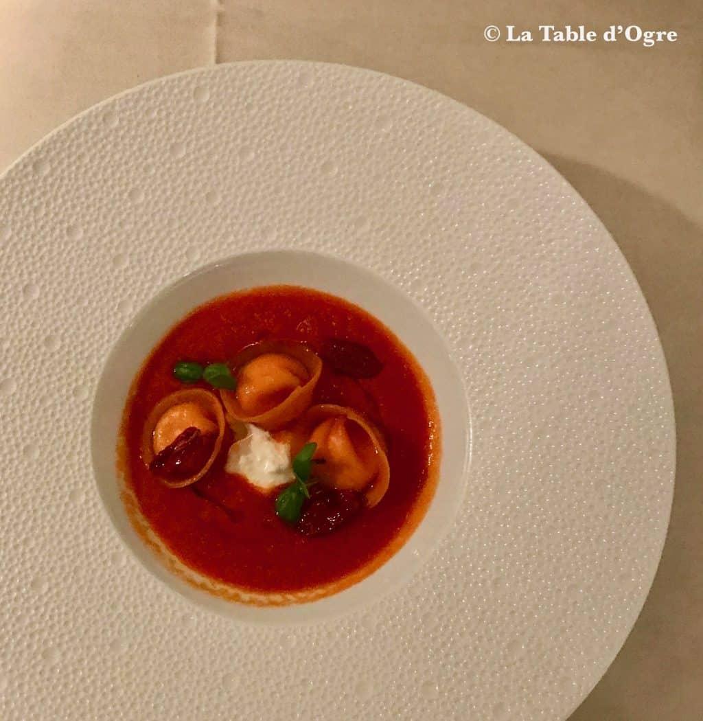 Emporio Armani Ristorante Ravioli burrata tomates Corbarino