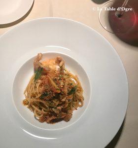 Emporio Armani Ristorante Spaghetti piment langoustines