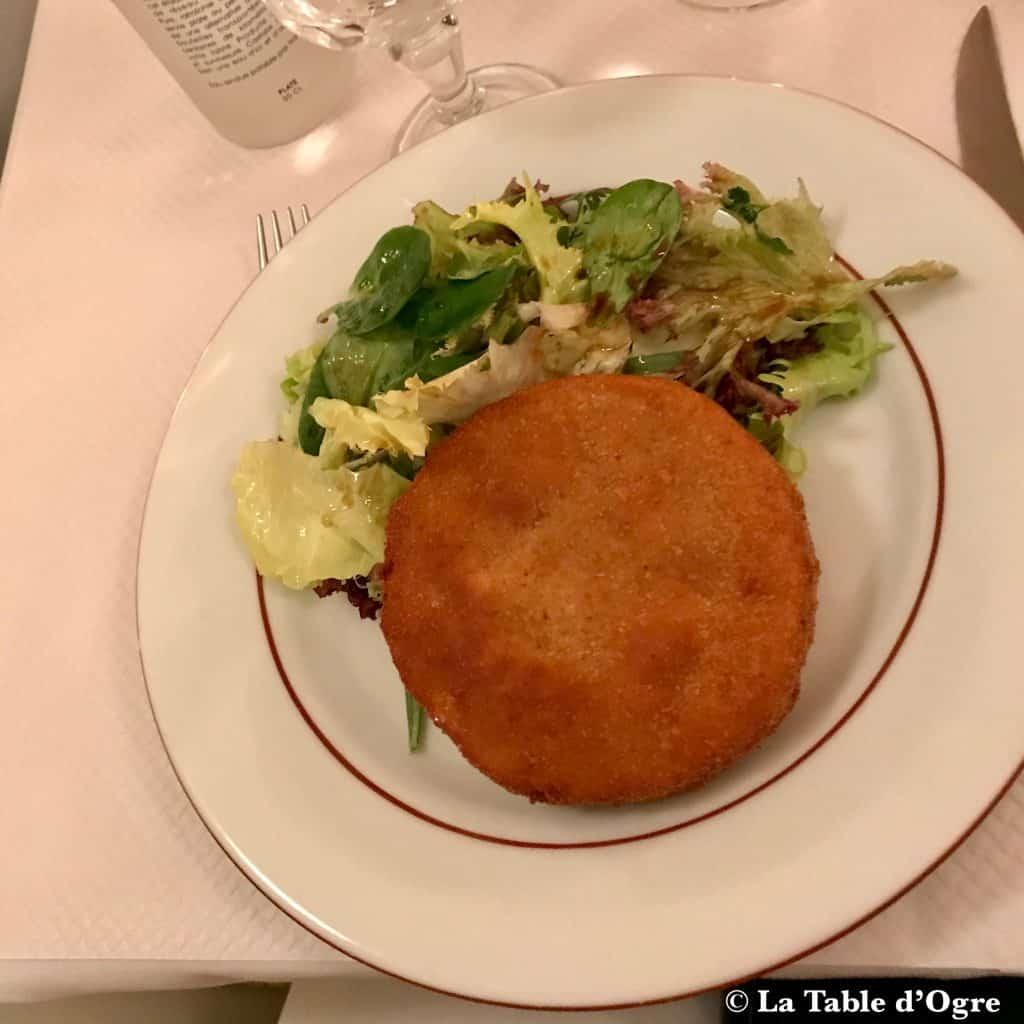 La poule au pot Camembert frit