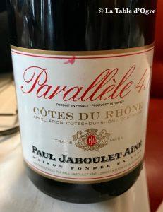 Le Procope Jaboulet Parallèle 45