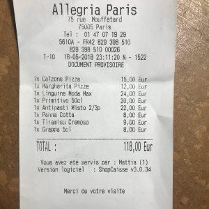 Allegria Paris Addition