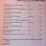 Belleek Castle Carte vins rouges