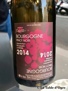 Bistrot Buci Mazarine Pinot noir Domaine de l'Echelette