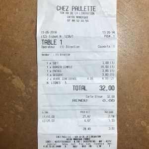 Chez Paulette Addition