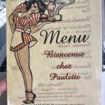 Chez Paulette Menu