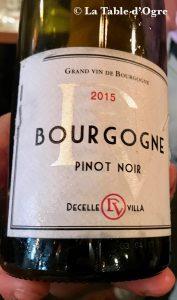 Louis Vins Pinot noir Decelle Villa 2015