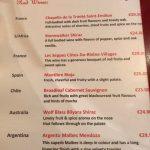 Off The Square Carte vins rouges