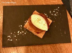 Zaoka Tatin crème fouettée et poivre