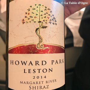 Emirates Vin rouge Howard Park Leston 2014