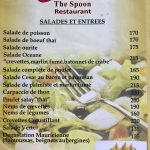 The Spoon Carte entrées