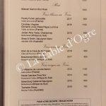 La Goélette Royal Palm Carte Vins au verre