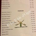 La Table du Château Carte Champagne
