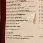 La Table du Château Carte vins balncs