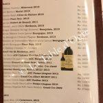 La Table du Château Carte vins rouges