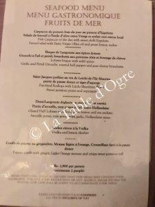 La Table du Château Menu gastronomique