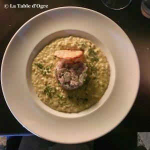 Le Rouget de l'Isle Risotto et tartare thon