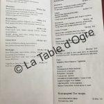 La table du marché Carte burgers pizzas