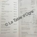 La table du marché Carte desserts