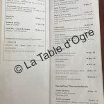 La table du marché Carte salades