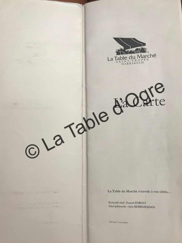 La Table Du Marche Marrakech Maroc La Table D Ogre
