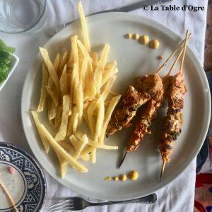 Riad du pêcheur Brochettes poulet
