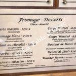 Au Bretzel Carte fromages Desserts
