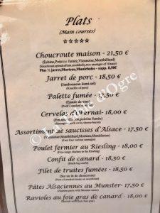 Au Bretzel Carte plats