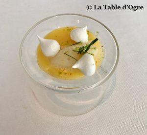 Le lièvre gourmand Crème citron sorbet citronnelle