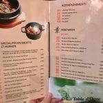 Le Lys d'Or Carte cocotte et légumes