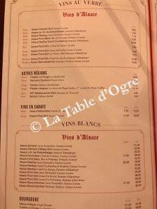 L'Alsace Carte vins